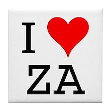 I Love ZA Tile Coaster