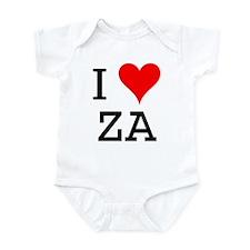 I Love ZA Infant Bodysuit