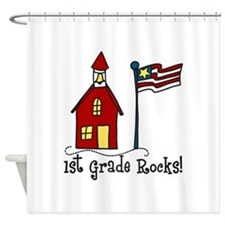 1st Grade Rocks! Shower Curtain