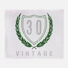 30th Birthday Laurels Throw Blanket