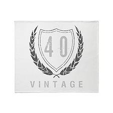 40th Birthday Laurels Throw Blanket