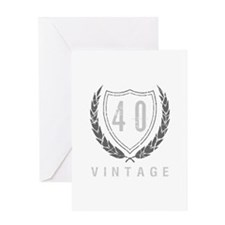 40th Birthday Laurels Greeting Card