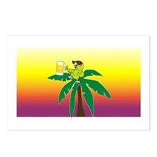 Parrot lounging with a beer Postcards (Package of