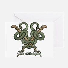 Rod of Asclepius3 Greeting Card