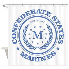 Confederate Marines (blue) Shower Curtain
