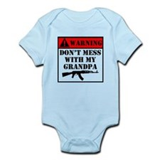 Warning Don't Mess With My Grandpa Body Suit