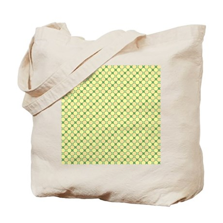1966s dots green Tote Bag