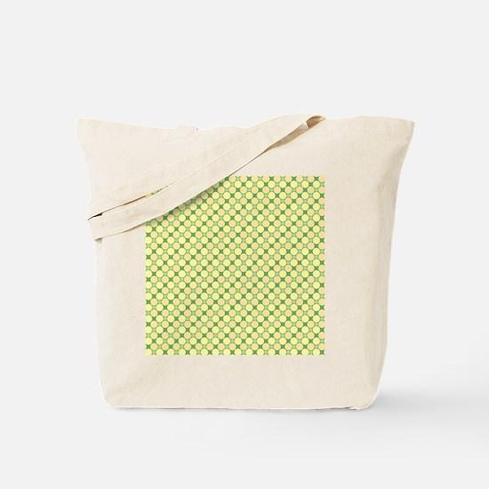 1966s dots green Tote Bag