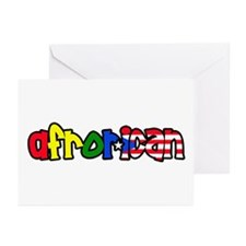 Afrorican  Greeting Cards (Pk of 10)
