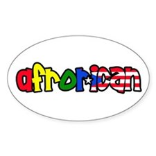 Afrorican Oval Decal