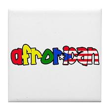 Afrorican  Tile Coaster