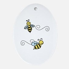 Bees Ornament (Oval)