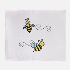 Bees Throw Blanket