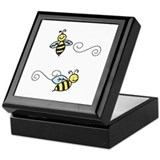 Honey bee Square Keepsake Boxes