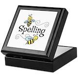 Spelling bee Square Keepsake Boxes