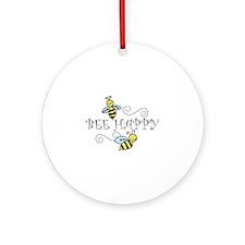 Bee Happy Ornament (Round)