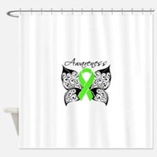 Lymphoma Butterfly Shower Curtain