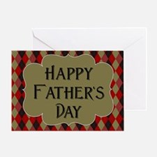 Father's Day Argyle Greeting Cards