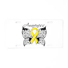 Osteosarcoma Butterfly Aluminum License Plate