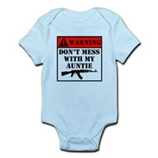 Warning Don't Mess With My Auntie Body Suit