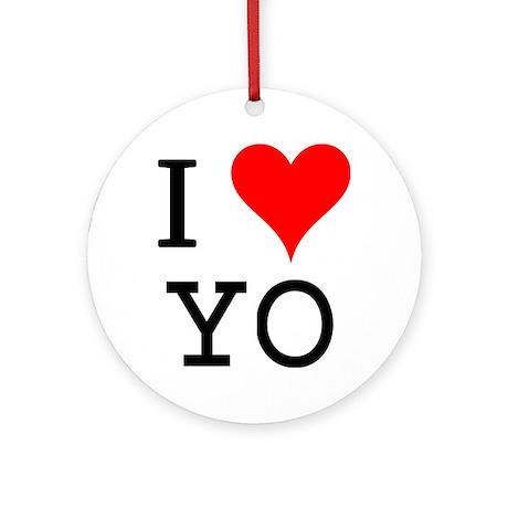 I Love YO Ornament (Round)