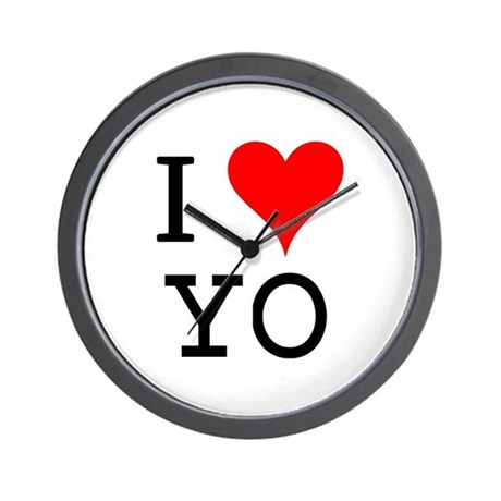 I Love YO Wall Clock