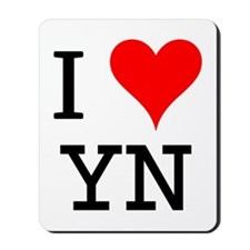I Love YN Mousepad
