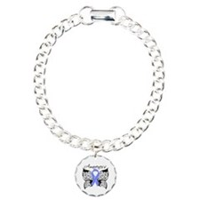 Stomach Cancer Butterfly Charm Bracelet, One Charm