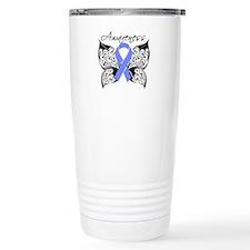 Stomach Cancer Butterfl Travel Mug
