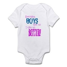 Anything Boys can do, I can d Infant Bodysuit