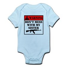 Warning Don't Mess With My Sister Body Suit