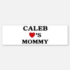 Caleb loves mommy Bumper Bumper Bumper Sticker