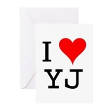 I Love YJ Greeting Cards (Pk of 10)
