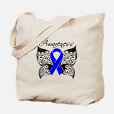 Rectal Cancer Butterfly Tote Bag
