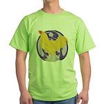 Buff Chantecler Cock Green T-Shirt