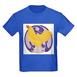 Buff Chantecler Cock Kids Dark T-Shirt