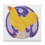 Buff Chantecler Cock Tile Coaster