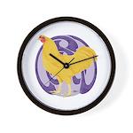 Buff Chantecler Cock Wall Clock