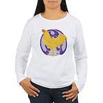 Buff Chantecler Cock Women's Long Sleeve T-Shirt