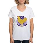 Buff Chantecler Cock Women's V-Neck T-Shirt