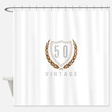 50th Birthday Laurels Shower Curtain