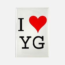 I Love YG Rectangle Magnet
