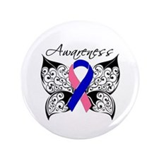"""Male Breast Cancer Butterf 3.5"""" Button (100 pack)"""