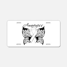 Lung Cancer Butterfly Aluminum License Plate