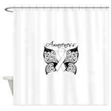 Lung Cancer Butterfly Shower Curtain