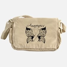 Lung Cancer Butterfly Messenger Bag