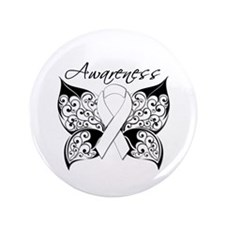 "Lung Cancer Butterfly 3.5"" Button"