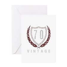 70th Birthday Laurels Greeting Card