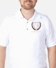 75th Birthday Laurels Golf Shirt
