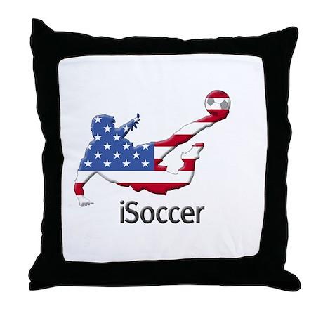 iSoccer USA Throw Pillow